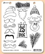 Dylusions - Cling Rubber Stamp Set - Christmas Accessories