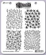 Dylusions - Cling Rubber Stamp Set - Christmas Backgrounds