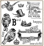 Darcie's Cling Mounted Rubber Stamps - Hat Birds