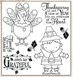 Darcie's Cling Mounted Rubber Stamps - Ever so Greatful