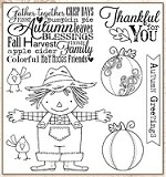 Darcie's Cling Mounted Rubber Stamps - Autumn Greetings