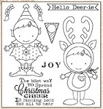 Darcie's Cling Mounted Rubber Stamps - Hello Deerie