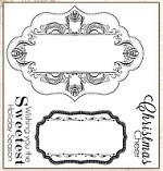Darcie's Cling Mounted Rubber Stamps - Vintage Label Sentiments