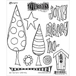 Dylusions - Cling Rubber Stamps - One Two Tree