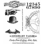 Stamper's Anonymous / Tim Holtz - Cling Mounted Rubber Stamp Set - Dapper
