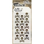 Stamper's Anonymous / Tim Holtz - Layering Stencil - Crossbones