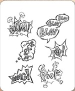 Stamper's Anonymous / Tim Holtz - Cling Mounted Rubber Stamp Set - Crazy Thoughts