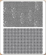 Stamper's Anonymous / Tim Holtz - Cling Mounted Rubber Stamp Set - Zigzag & Diamonds