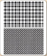 Stamper's Anonymous / Tim Holtz - Cling Mounted Rubber Stamp Set - Plaid & Nordic