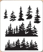 *PRE-ORDER* Stamper's Anonymous / Tim Holtz - Cling Mounted Rubber Stamp Set - Tree Line