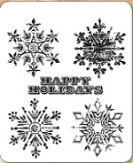 Stamper's Anonymous / Tim Holtz - Cling Mounted Rubber Stamp Set - Weathered Winter