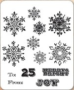 Stamper's Anonymous / Tim Holtz - Cling Mounted Rubber Stamp Set - Mini Weathered Winter
