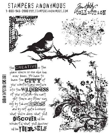 Tim Holtz-Cling Rubber Stamp Set-Urban Tapestry