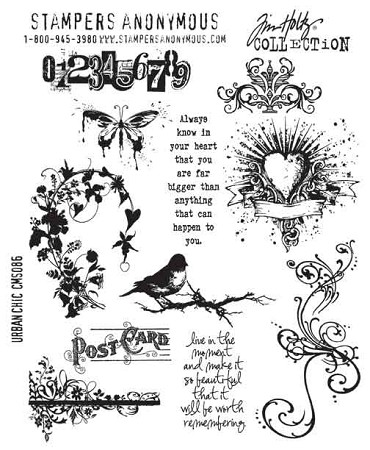 Tim Holtz-Cling Rubber Stamp Set-Urban Chic