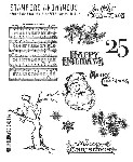 Tim Holtz-Cling Rubber Stamp Set-Mini Christmas 2