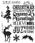 Tim Holtz-Cling Rubber Stamp Set-Season's Silhouettes