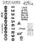 Tim Holtz-Cling Rubber Stamp Set-Little Labels