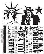 Tim Holtz-Cling Rubber Stamp Set-Americana Silhouettes