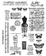 Tim Holtz-Cling Rubber Stamp Set-Attic Treasures