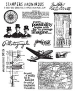 Tim Holtz-Cling Rubber Stamp Set- Warehouse District