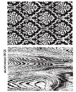 Tim Holtz-Cling Rubber Stamp Set- Wallpaper and Wood