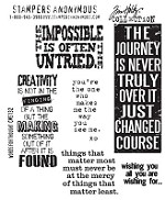 Tim Holtz-Cling Rubber Stamp Set- Words For Thoughts