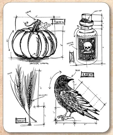 Stampers anonymous tim holtz cling mounted rubber stamp set stampers anonymous tim holtz cling mounted rubber stamp set halloween blueprint 2 malvernweather Choice Image