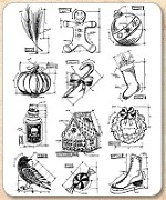 Stamper's Anonymous / Tim Holtz - Cling Mounted Rubber Stamp Set - Mini Blueprints 5