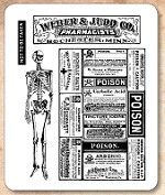 Stamper's Anonymous / Tim Holtz - Cling Mounted Rubber Stamp Set - Poisonous