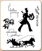 Stamper's Anonymous / Tim Holtz - Cling Mounted Rubber Stamp Set - Deco Christmas