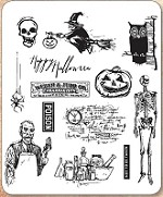 Stamper's Anonymous / Tim Holtz - Cling Mounted Rubber Stamp Set - Mini Halloween #4