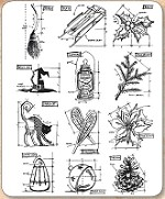 Stamper's Anonymous / Tim Holtz - Cling Mounted Rubber Stamp Set - Mini Blueprints 7