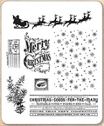 Stamper's Anonymous / Tim Holtz - Cling Mounted Rubber Stamp Set - Christmas Nostalgia