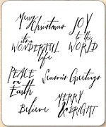 Stamper's Anonymous / Tim Holtz - Cling Mounted Rubber Stamp Set - Handwritten Holidays 1