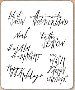 Stamper's Anonymous / Tim Holtz - Cling Mounted Rubber Stamp Set - Handwritten Holidays 2