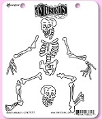 Dylusions - Cling Rubber Stamp Set - Boney Maloney