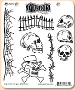 Dylusions - Cling Rubber Stamp Set - Day of the Heads
