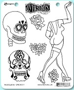 Dylusions - Cling Rubber Stamp Set - Pin Up Queen