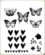 Stamper's Anonymous / Tim Holtz - Cling Mounted Rubber Stamp Set - Watercolor