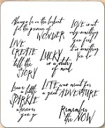 Stamper's Anonymous / Tim Holtz - Cling Mounted Rubber Stamp Set - Handwritten Thoughts
