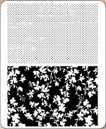 Stamper's Anonymous / Tim Holtz - Cling Mounted Rubber Stamp Set - Dots & Floral