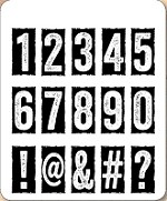 Stamper's Anonymous / Tim Holtz - Cling Mounted Rubber Stamp Set - Number Blocks