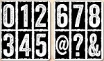 Stamper's Anonymous / Tim Holtz - Cling Mounted Rubber Stamp Set - Big Number Blocks (set of 2 sheets)