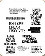 Stamper's Anonymous / Tim Holtz - Cling Mounted Rubber Stamp Set - Life Quotes