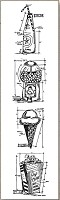 Stamper's Anonymous / Tim Holtz - Cling Mounted Rubber Stamp Set - Mini Blueprints Treats