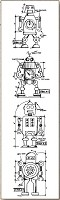 Stamper's Anonymous / Tim Holtz - Cling Mounted Rubber Stamp Set - Mini Blueprints Robot