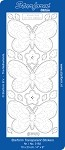 Starform Clear & Stitchable Peel Off Stickers - Clear Stitching Butterflies (Silver)