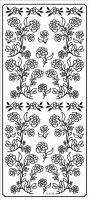 Sticker King Peel Off Stickers - Flowers (Silver)