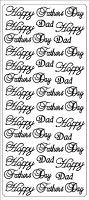 Sticker King Peel Off Stickers - Father (Silver)