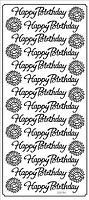 Sticker King Peel Off Stickers - Happy Birthday (Silver)
